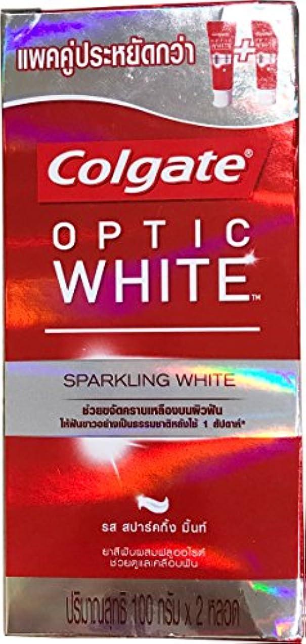 スイッチなぜ大理石(コルゲート)Colgate 歯磨き粉 「オプティック ホワイト 」 (スパークリングホワイト) 2本セット