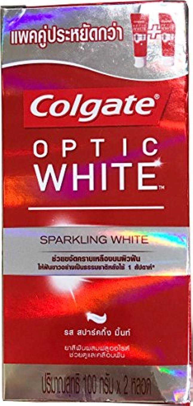 熱帯の行う掘る(コルゲート)Colgate 歯磨き粉 「オプティック ホワイト 」 (スパークリングホワイト) 2本セット