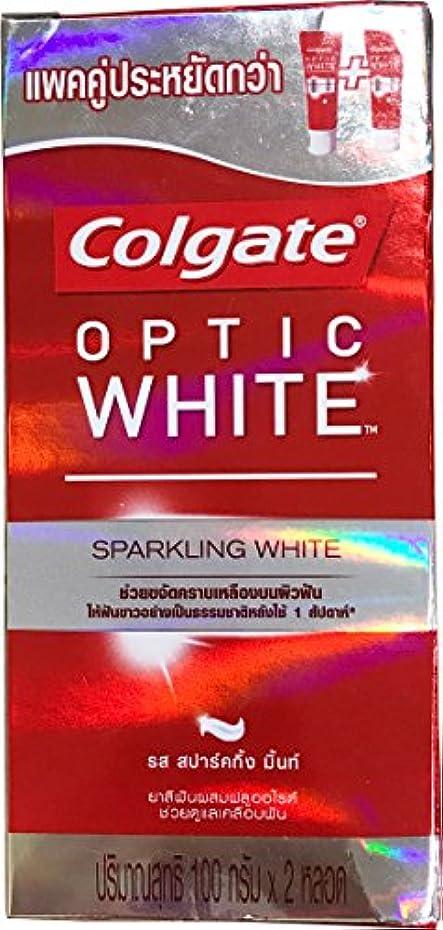 二十広い次へ(コルゲート)Colgate 歯磨き粉 「オプティック ホワイト 」 (スパークリングホワイト) 2本セット