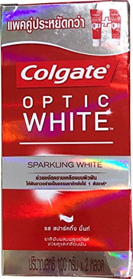 飼いならす探検物理(コルゲート)Colgate 歯磨き粉 「オプティック ホワイト 」 (スパークリングホワイト) 2本セット
