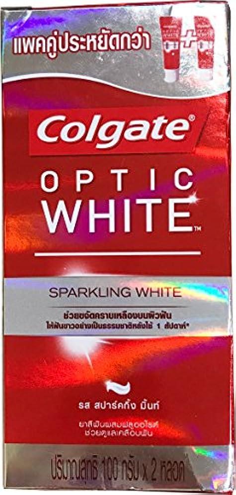 津波エンジン修正(コルゲート)Colgate 歯磨き粉 「オプティック ホワイト 」 (スパークリングホワイト) 2本セット