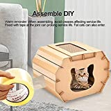 elegantstunning Cat Scratcher Cardboard Scratching Pads Recyclable Corrugated Paper Carton for Indoor Cats Kitten Playing Rest Sleeping