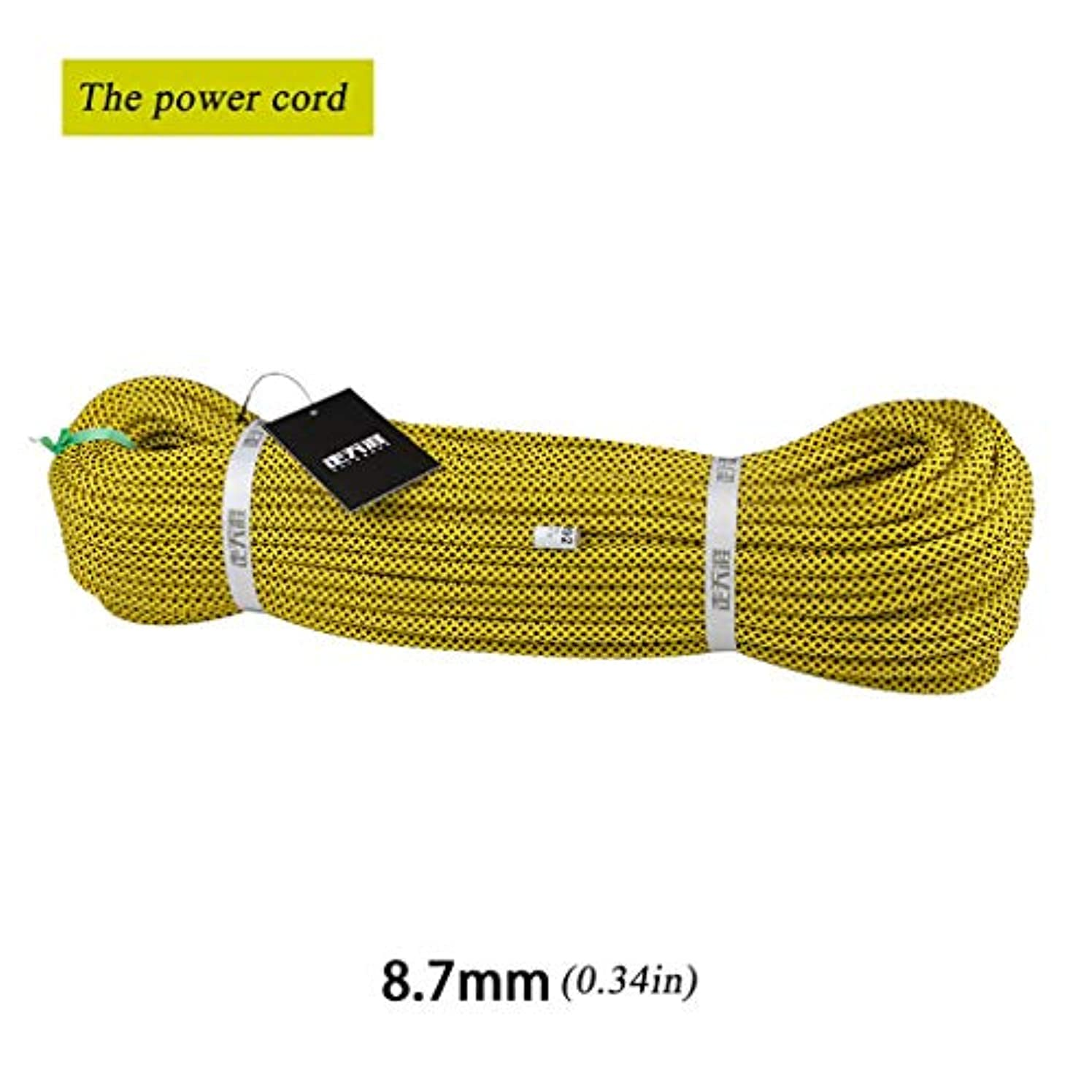 折るイベント届けるロープ(張り綱) 電源コード屋外クライミングロープロック保護安全ロープ高高度落下保護ロープΦ8.7mm(0.34in) (Size : 10m(32.8ft))
