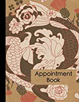 Tattoo Artist Appointment Book: Large Japanese Style Tattoo Business Appointment Scheduler and Daily Planner - 120 Pages and 15 Minute Increments - Tattoo and Piercing Business Date and Timekeeping Book