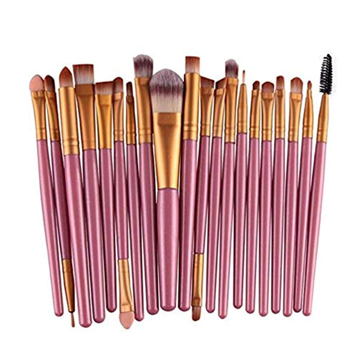 活発枯渇する回復アイシャドウブラシセット20ピース化粧アイブラシアイシャドウブレンドブラシアイブロウアイライナーリップブラシ美容ブラシ、ギフトに最適 (Color : Pink)