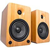 Kanto YU6 Powered Bookshelf Speakers with Bluetooth® and Phono Preamp (Bamboo)