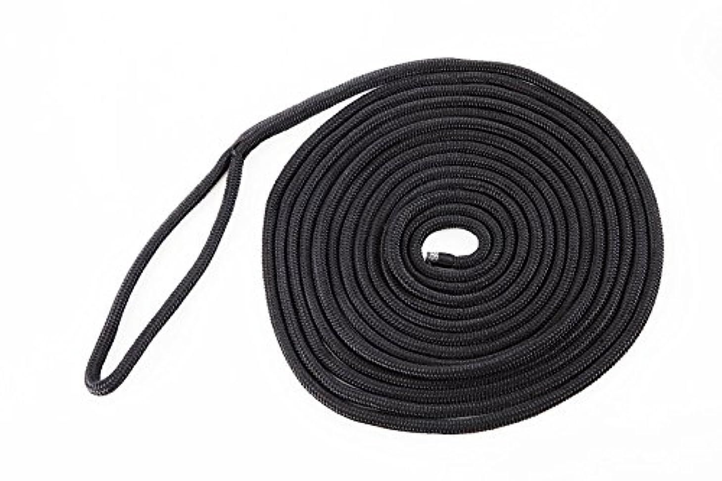 押し下げる電卓間隔ダブルブレイドPPアイ付ロープ 14mm×7.5m ブラック
