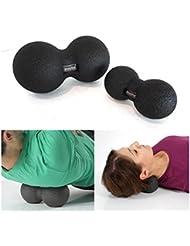 [ボディーエックス] Body X ブラックロール デュオルボ-ルセット 16cm 25cm 2個セット デュアルマサジボ-ル 筋肉マッサージ バランス 筋力強化 海外直送品 (Black Roll Dual Ball...