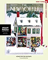 New York Puzzle Company - New Yorker Home for the Holidays - 500 Piece Jigsaw Puzzle