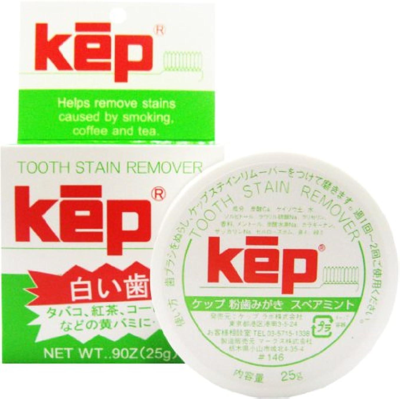 分析的鷲彼kep(ケップ) ホワイトニング 粉歯磨き スペアミント