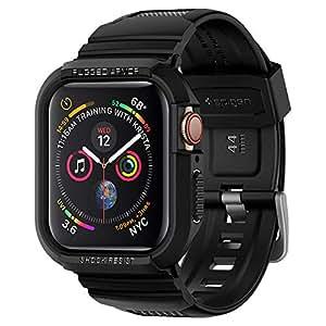 【Spigen】 Apple Watch バンド 一体型 ケース Series 4 44mm 対応 落下 衝撃 吸収 ラギッド・アーマー プロ 062CS25324 (ブラック)