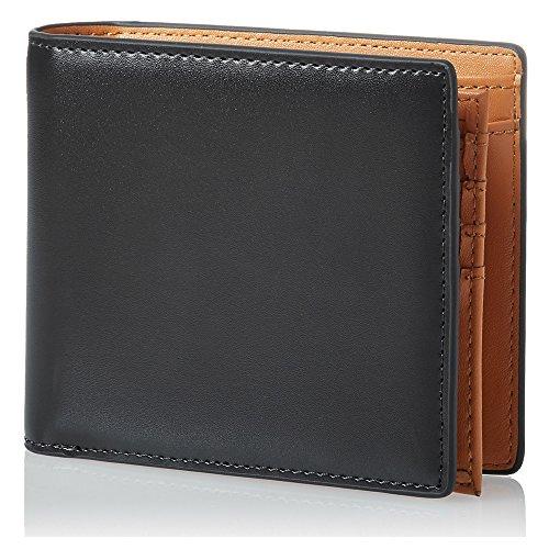 OKACHI 二つ折り財布 中ベラ付き コードバン調 財布 札入れ 革小物