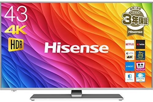ハイセンス 43V型 4K対応液晶テレビ HDR対応 -外付けHDD録画対応(裏番組録画)/メーカー...