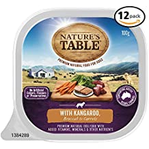 NATURES TABLE with Kangaroo Wet Dog Food 100g Tray, 12 Pack