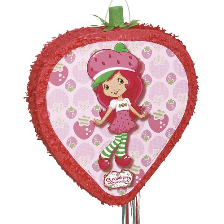 Strawberry Shortcake Shaped Pull-String Pinata ストロベリーショートケーキの形のプル文字列ピニャータ?ハロウィン?サイズ: