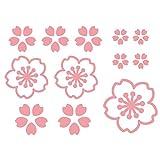 デザイン工房SIGNS 車 ステッカー 桜 さくら 2 花 12枚セット 窓 給油口 綺麗にはがせる ピンク マット