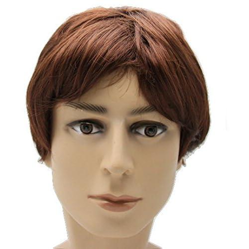 GLOBAL BOX メンズ コスプレ かつら モッズ系 短髪 カツラ 仮装 ウィッグ (茶髪)