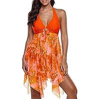 RONSHIN Bikini for 2pcs/Set Women Summer Fashion Sexy Deep V Dress + Shorts Swimsuit Bikini