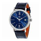 IWCポルトフィーノ自動ブルーダイヤルユニセックス時計iw458111