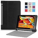 Lenovo Yoga Tab 3 ケース - ATiC Lenovo Yoga Tab 3 8インチタブレット専用開閉式軽量薄型スタンドケース BLACK