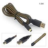 Hapurs 任天堂 ニンテンドー New3DS/New3DSLL/3DS/3DSLL/2DSDSi/DSi LL 対応 USBケーブル 充電専用 1.5m