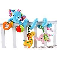 Cute Baby ベビー ベッド メリー 赤ちゃん ジム かわいい おもちゃ (ぞう(ブルー))