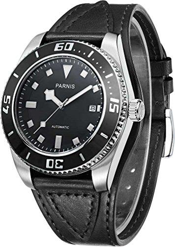 パーニス 腕時計 自動巻き 日本製ムーブメント(MIYOTA) 2Colors PA6033-BKBK[並行輸入品]