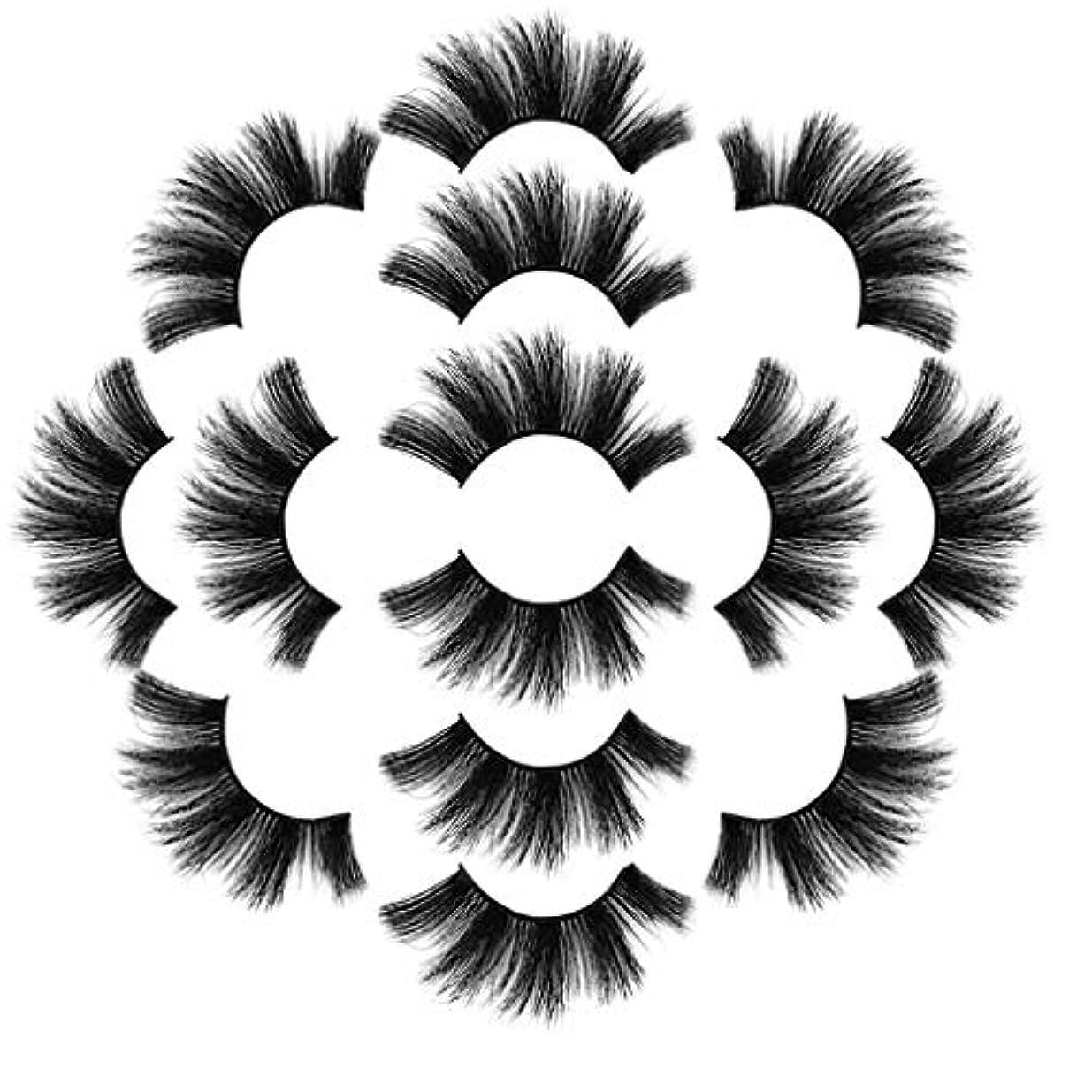 コンペマイナス資源ラグジュアリー7ペア8Dつけまつげふわふわストリップまつげロングナチュラルパーティーメイク