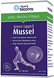 Henry Blooms 500mggreen Lipped Mussel with BioP 60 Capsules