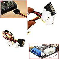 FidgetGear New Power Adapter Cable 15 Pin SATA Male to Dual Molex 4 Pin IDE HDD Female