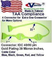 UDMA 40/ 80ラウンドIDE / EIDE / ATA HDDデータケーブル、3ドライブ36インチ、イエロー