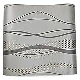 (ハンメロ)HANMEROのりなし壁紙 曲線の縞模様 フリース ブラック&グレー モダン 1ロール(53cm×10m)