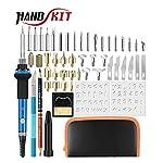 Handskit 40PCS 110V/220V 60W Soldering Iron Kit Wood Burning Pen Set Electric Soldering Iron Carving Pyrography Tools...