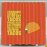 I Wanna Tacosカスタム防水ファブリックシャワーカーテン装飾–60x 72インチ 60*72inch ブラック GUMIU3M-26862530