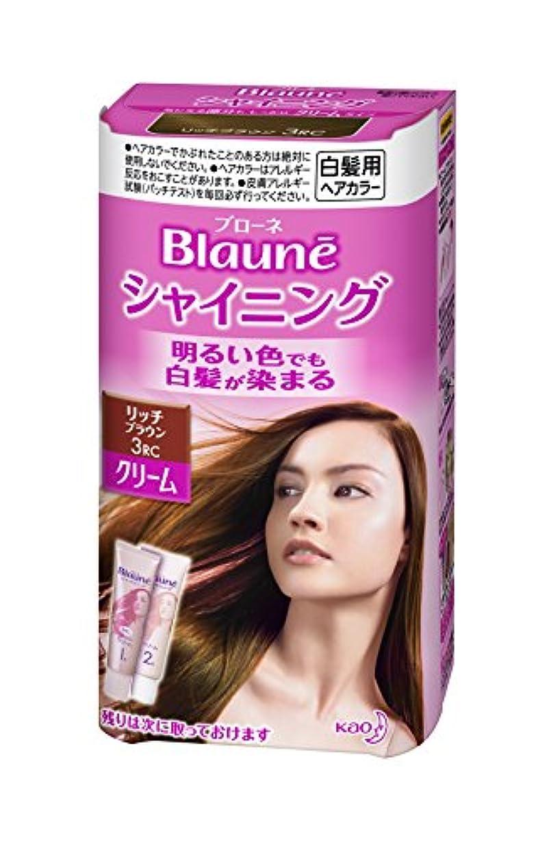 有効化観察する鼻ブローネシャイニングヘアカラークリーム 3RC リッチブラウン