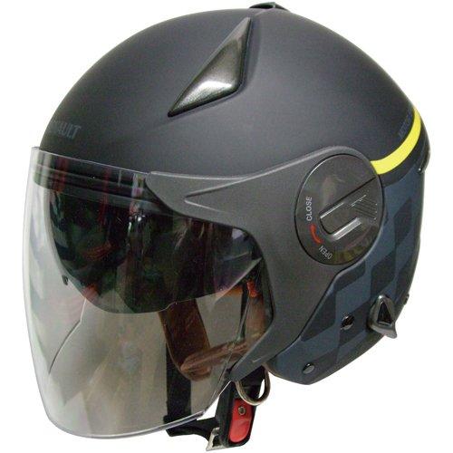 FS RN-999W ルノー Wシールドジェットヘルメット マットブラック CAAABA_FLPNLP