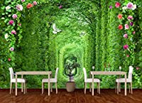 Mbwlkj ネイチャー壁紙ステッカー緑の植物写真の壁紙壁画リビングルーム3D自己接着壁紙-200cmx140cm