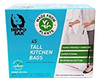 Plant Based - Hippo Sak Tall Kitchen Bags with Handles 13 gallon (45 Count) [並行輸入品]