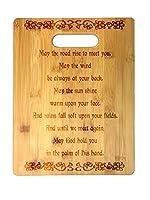 Irish Blessing Prayer May The Road Rise Upレーザー彫刻ケルトノット竹カッティングボード–結婚、新築祝い、記念日、誕生日、聖パトリックの日、ギフト