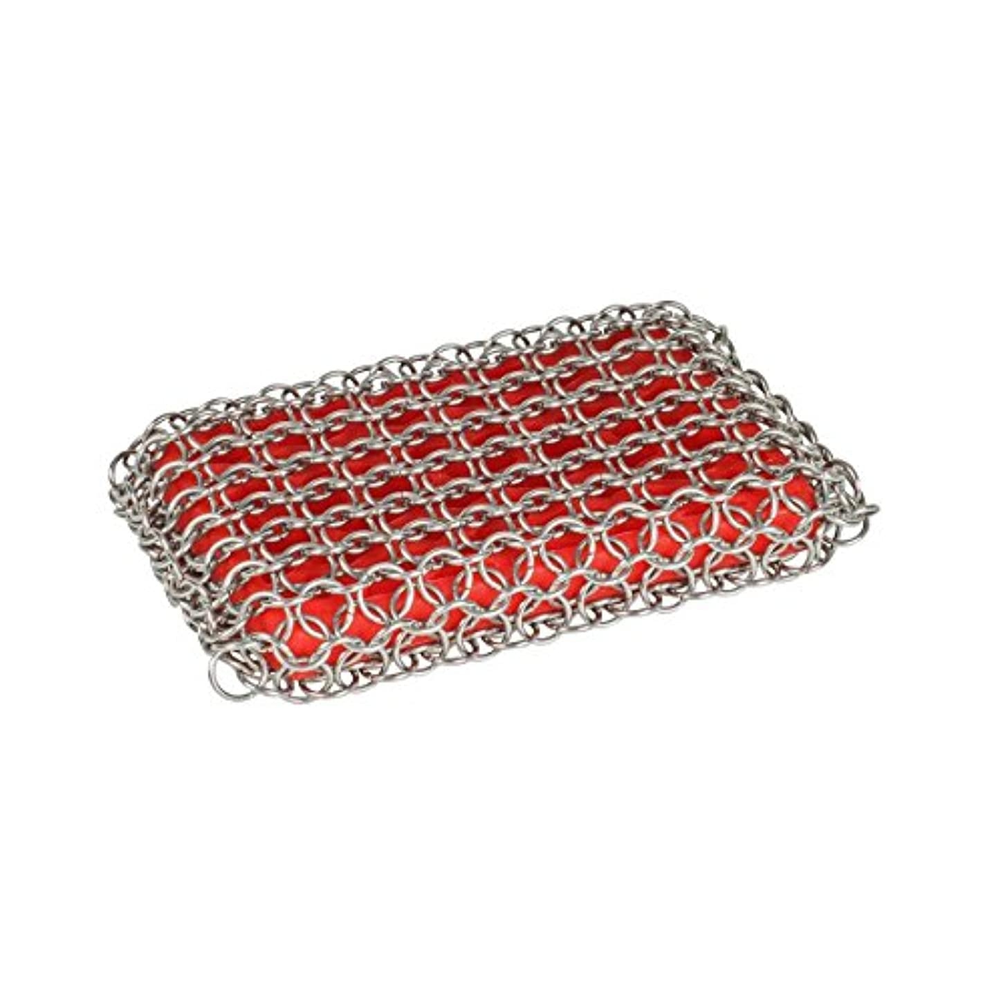 バリケードさせる芸術Lodge Chainmail Scrubbing Pad, Red