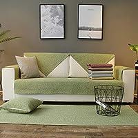 単色 ソファカバー, ソフト 通気性 綿 ソファーのカバー 家具プロテクター ヨーロッパ な の作品販売-グリーン 1pc-110x210cm