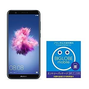 Huawei 5.65インチ nova lite 2 SIMフリースマートフォン ブルー※クリアケース、イヤホンマイク付属※【日本正規代理店品】 NOVA LITE 2/BLUE & BIGLOBE エントリーパッケージセット