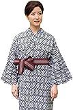 (キョウエツ) KYOETSU レディース旅館浴衣3点セット (浴衣/共紐/丹前帯) (125, 01)