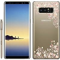 「Breeze-正規品」iPhone ・ スマホケース ポリカーボネイト [透明-Pink] Samsung Galaxy NOTE8 ケース SC-01K/SCV37 兼用 ギャラクシーノート8 galaxy note8カバー 液晶保護フィルム付 全機種対応 [GNT8]