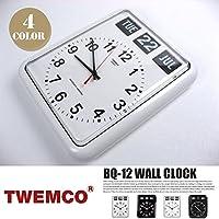 BQ-12 WALL CLOCK(ウォールクロック) パタパタクロック TWEMCO(トゥエンコ) B-ホワイト