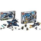 レゴ(LEGO) スーパー・ヒーローズ  アベンジャーズ・アルティメット・クインジェット 76126 ブロック おもちゃ 男の子 &  スーパー・ヒーローズ  キャプテン・アメリカ:アウトライダーの攻撃 76123 ブロック おもちゃ 男の子【セット買い】