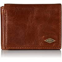 Fossil Men's RFID Blocking Ryan Execufold Wallet, Dark Brown, One Size