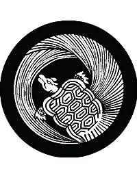 家紋シール 一つ蓑丸亀紋 布タイプ 直径40mm 6枚セット NS4-0098