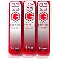 パイロットMechanical Pencil Lead Neoxグラファイト0.3MM 2b ( hrf3g-20–2b、20Leads × 3パック/合計60Leads ( Japan Import ) [オリジナルkomainu-douパッケージ]