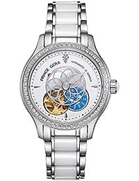 腕時計 レディース PRINCE GERA 高級 機械式 自動巻き 防水 花 ダイヤ 女性 おしゃれ ウォッチ [並行輸入品]